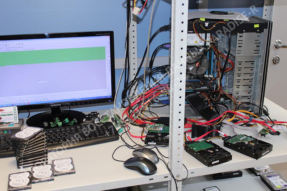 Восстановление данных с жестких дисков Seagate на PC-3000 в лаборатории