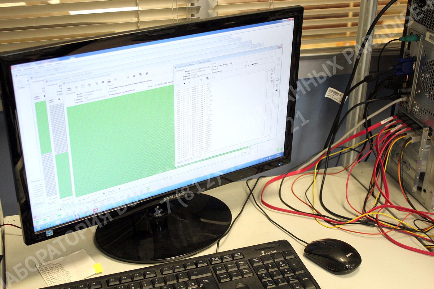 Восстановление HDD в лаборатории Paradise-R на PC-3000